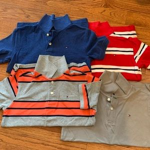 Four Tommy Hilfiger Polos